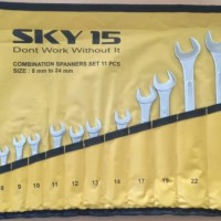 KUNCI RING PAS SET 11 PCS SKY15 COMBINATION WRENCH SET 11PCS SKY 15