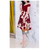 Kode#D6142 - floral skirt Merah