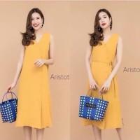 KODE#D6063 -dress model kancing Orange