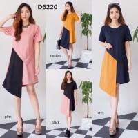 Kode D6220 - dress Merah Muda