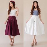 KODE#R5010 - midi skirt chealse white