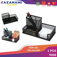 DESK SET 9058 TEMPAT ALAT TULIS BESI PENCIL DESK PEN HOLDER 9058