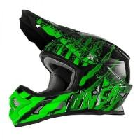 Helm Cross Oneal 3 Series Mercury Black Green Size M