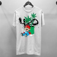 T-shirt 420 Mario White / Baju Kaos Distro Pria Wanita Cotton 30s