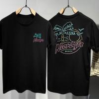 T-shirt Neon Light / Baju Kaos Distro Pria Wanita Cotton 30s
