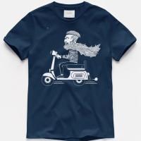 T-shirt Vespa Hipster / Baju Kaos Distro Pria Wanita Cotton 30s