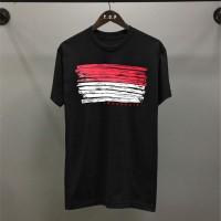 T-shirt Garis Indonesia / Baju Kaos Distro Pria Wanita Cotton 30s