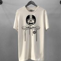 T-shirt Vespa Kick Ass / Baju Kaos Distro Pria Wanita Cotton 30s
