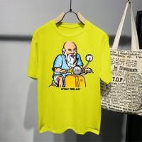 T-shirt Vespa Ortu / Baju Kaos Distro Pria Wanita Cotton 30s
