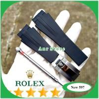 Tali Jam Tangan Rolex Rubber B Waterproff Premium 20 mm