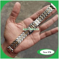 Strap Watch / Tali Jam Tangan Rantai Longines 18mm Silver Gold