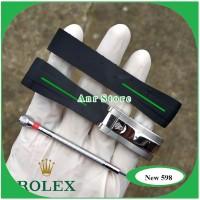 Tali Jam Tangan Rolex Rubber B Waterproff 20 mm Bonus Buckle Dan Obeng
