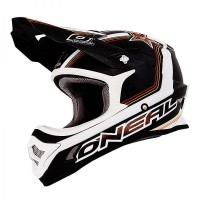 Helm Cross Oneal 3 Series Star Black Yellow White Size L