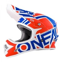 Helm Cross Oneal 3 Series Radium Red Blue White Size M