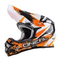 Helm Cross Oneal 3 Series Shocker Black Orange Size L