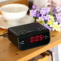 Jam Meja LED Digital Clock dengan FM Radio