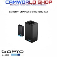 GoPro Dual Battery Charger + Battery for Gopro Hero MAX