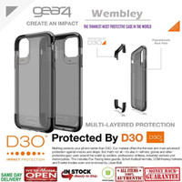 iPhone 11 Pro Max / 11 Pro / 11 Case GEAR4 WEMBLEY - Smoke Black