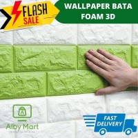 Sticker Wallpaper Dinding 3D Tempel Dekorasi Background Bata Foam