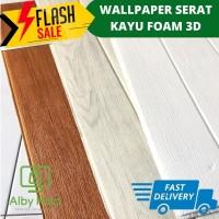 Wallpaper foam 3D Premium Wallpaper Foam 3D block Serat Kayu FOAM