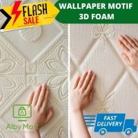 Wallpaper foam 3D Premium Wallpaper Foam 3D DIAMOND BUNGA MOTIF