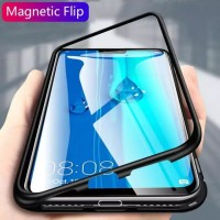 OPPO A9 2020 / A5 2020 MAGNETIC CASE TEMPERED GLASS BACK COVER