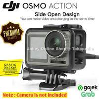 Side Open Protective Frame Case Mount for DJI Osmo Action Camera Cage