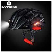 Helm Sepeda Rockbros Sepeda Lipat MTB Road Bike Plus Lampu Charge