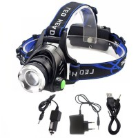 TaffLED Senter Kepala High Power Headlamp LED Cree XML T6 + Charger