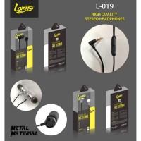 HANDSFREE LAMIGO METAL DESIGN TYPE L-019 HEADSET HENSET