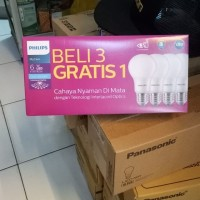 lampu led philips led paket 6w 3+1