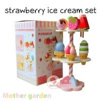 Zoetoys Mother Garden - Strawberry Ice Cream Set | mainan edukasi