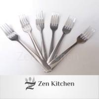 garpu makan polos hotel 6pcs