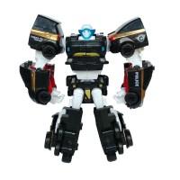 Tobot Quatran Hitam 4 in 1 Mainan Mobil Robot Anak Laki Laki
