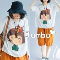 Damai fashion jakarta - baju atasan KAOS JUMBO - big size INDRI