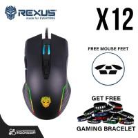 Rexus Xierra X12 RGB Macro - Gaming Mouse