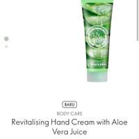 Revitalising hand cream with Loe vera juice - 34930