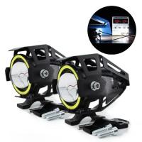 Lampu Tembak Motor Lens Headlight LED 3000 Lumens 125W
