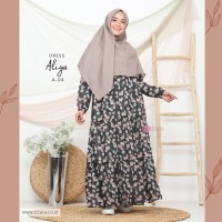 ZIZARA ALIYA DRESS A04 GAMIS ONLY MOTIF BAHAN BABY DOLL FULL FURING
