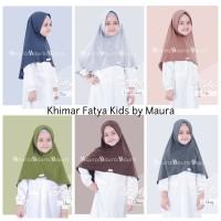 Khimar Fatya Kids size L by Maura Jilbab Anak Kaos Premium Daily Adem
