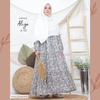ZIZARA ALIYA DRESS A02 GAMIS ONLY MOTIF BAHAN BABY DOLL FULL FURING