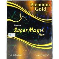 Promo Awal tahun Tissue / Tisu Super Magic Man Premium Gold Isi 3