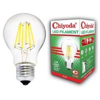 LAMPU LED FILAMEN CHIYODA A-60 8W CLEAR DL/PUTIH