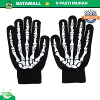 KANCOOL Sarung Tangan Touch Glove Skull Skeleton Design for