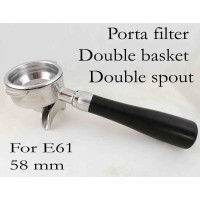 Portafilter with Two spout double basket 58 mm