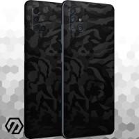 [EXACOAT] Galaxy A71 Skins 3M Skin / Garskin - Black Camo