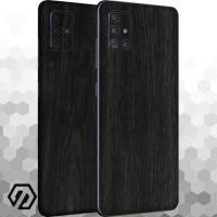 [EXACOAT] Galaxy A71 3M Skin / Garskin - Wood Ebony