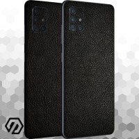 [EXACOAT] Galaxy A71 3M Skin / Garskin - Leather Black