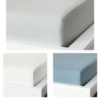 Sprei berkaret taggvallmoo, warna putih, 90x200 cm