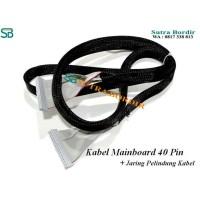 KABEL MAINBOARD BORDIR 40 Pin Ada Sarung Jaring Pelindung Kabel